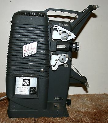 Mansfield Holiday Zoom Auto Thread Standard 8mm Film Projector Silent 110V RARE