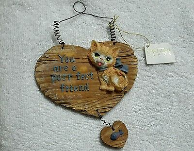 Carlton cards wall decor You are a purr fect friend   cat /fish