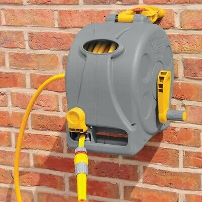 Hozelock 2 In 1 Enclosed Hose Reel With 25m Hose + Fittings