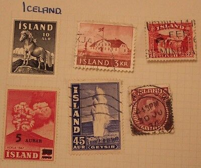 6 X Iceland stamps