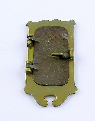 Antique Heavy Brass & Hammered Brass Speakeasy Door Knocker Peep Hole Front Only