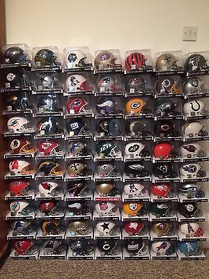 Huge Collection Of 70 Rare Nfl Mini Helmets - Riddell - Brand New