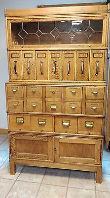 Antique Globe Wernicke Barrister Filing/Clerk's Cabinet-5 Sections