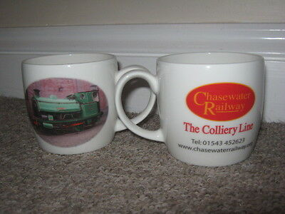 2 Chasewater Railway Colliery Line Fine Bone China Mugs Different Pictures