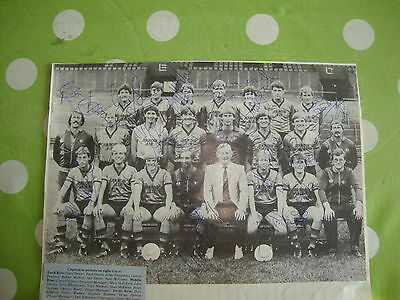 Hull City Multi Signed Team Picture c1984
