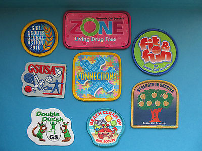 8 Lot of Girl Scouts Badges Patches GSUSA BSA BSC WSB Merit Camp #9