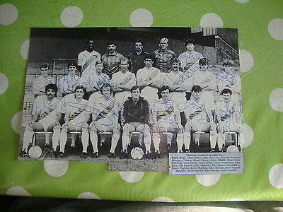 Crystal Palace Multi Signed Team Picture 1985