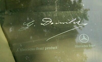 NewStyle Clear W/Silver Writing Mercedes Benz Signature Windshield Decal Sticker
