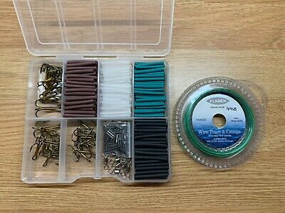 44lb Pike & Game Fishing Trace Making Kit.300 Pieces + a 10 Section Tackle Box.