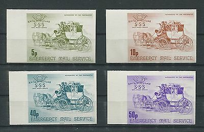 GB UK EMERGENCY MAIL MNH STREIKPOST ** PFERDE HORSE KUTSCHE d6786