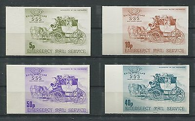 GB UK EMERGENCY MAIL MNH STREIKPOST ** PFERDE HORSE KUTSCHE d6790