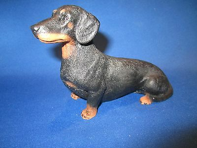 Dachshund dog figure model Castagna  black and tan smooth hand made in Italy