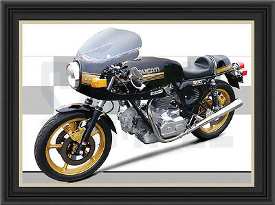 Ducati Desmo 900Ss Motorcycle Print / Poster
