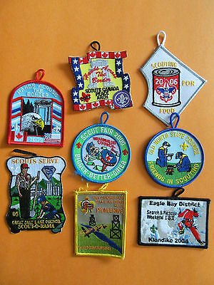 8 Lot of Boy Scouts Badges Patches Beaveree Camporee BSA BSC WSB Merit Camp #33