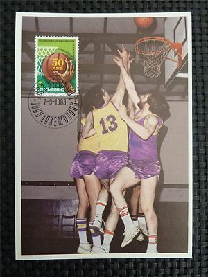 LUXEMBURG MK SPORT BASKETBALL MAXIMUMKARTE CARTE MAXIMUM CARD MC CM c1477