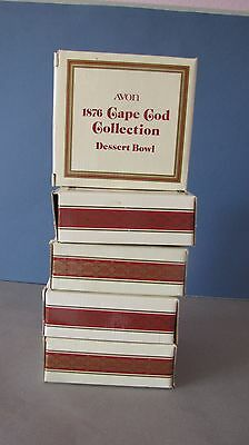 FIVE! 1876 Cape Cod Ruby Red Avon Dessert Berry Bowls with Boxes