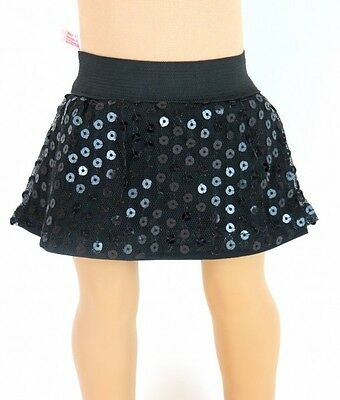 "18"" AFW Doll Clothes  Black Sequin Skirt with shorts fits American Girl"