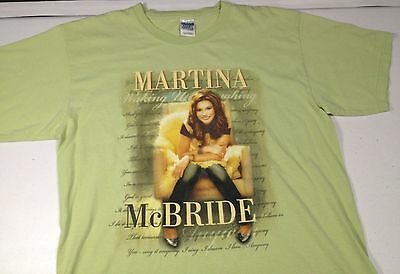 Martina McBride Waking Up Laughing Concert T-Shirt Green Country Adult Large