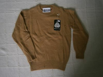 """Vintage Lambswool Sweater - 26"""" Chest Approx - Sand - Defects - New"""