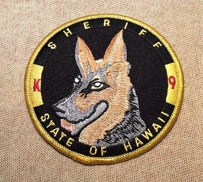 HI State of Hawaii K-9 Unit Sheriff Patch