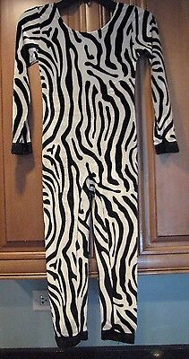 Size 5/6 Zebra Print One Piece Body Suit for Dress Up or Dance