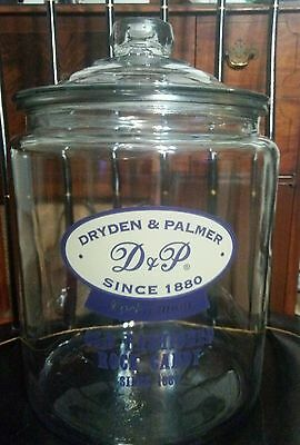 Antique Dryden & Palmer Old Fashioned Rock Candy Large Glass Store Display Jar