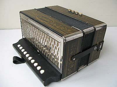 Hohner Pokerwork Melodeon in G Single Row 10 button 4 bass