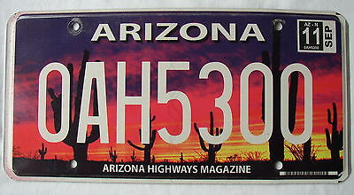 ARIZONA HIGHWAYS MAGAZINE Special Order License Plate ~ FREE SHIPP !