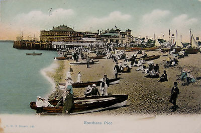 Early Colour Postcard, Southsea Pier.