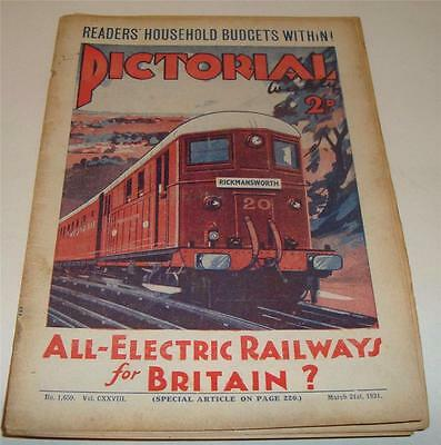 PICTORIAL WEEKLY MAGAZINE ELECTRIC RAILWAYS FOR BRITAIN March 21st 1931       66