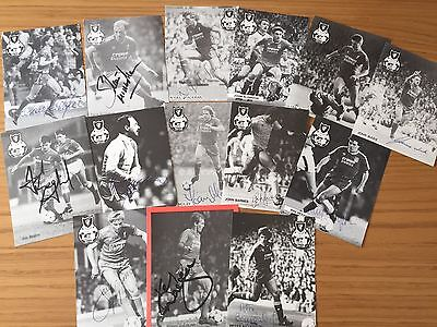 Liverpool FC Football Memorabillia 15 Very Rare Signed Crown Paint Fan Cards