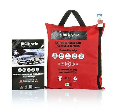 NEW Multi Grip Car Snow Socks, Large, Wheel Grips Covers, Snow Chains