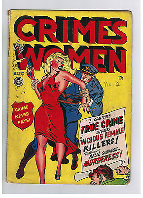 CRIMES BY WOMEN COMIC No. 2 from 1948 Fox Feature Syndicate