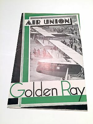 Air Union & Air Orient Timetable Summer 1931 Golden Ray