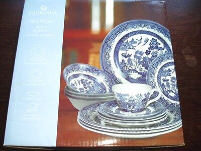 20p/c Blue Willow  dinnerset   BOXED -Churchill China England -NEW
