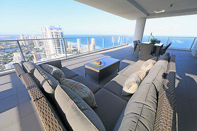 GOLD COAST ACCOMMODATION LUXURY 3 BEDROOM CIRCLE LEVEL 48 OCEAN $1600 5 Nights