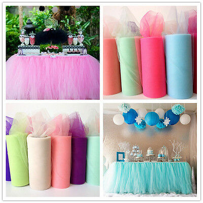 22m x 15cm Sheer Organza Roll for Wedding Chair Sash Bow Table Runner Swag Decor