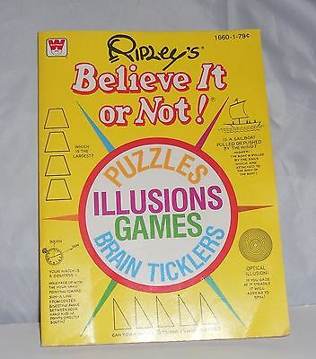 1979 Ripley's Believe It or Not Activity Book Vintage Puzzles Illusions Games