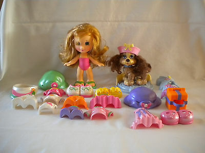 Fisher Price Snap n Style Lot Doll & Pet Coco Cocker Spaniel w/clothes & Accesso