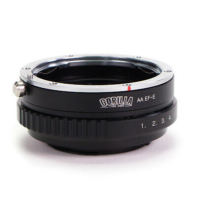 Adapter Ring with Built in Aperture Canon EOS EF Lens to Sony E-Mount Camera NEX