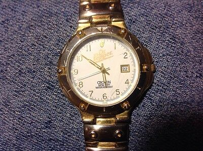 Vintage Reliance by Croton Dr. Pepper Watch-Runs Good-Fresh Battery