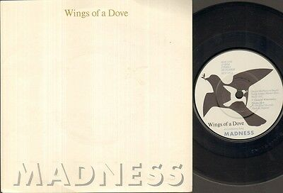 """MADNESS Wings Of A Dove  7"""" Embossed Sleeve, B/W Behind The 8 Ball, Buy 181 (Vin"""