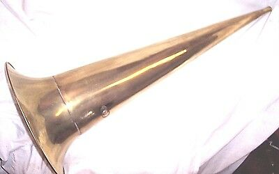 "Brass Phonograph Horn Hawthorn And Sheble 30"" Brass Horn"