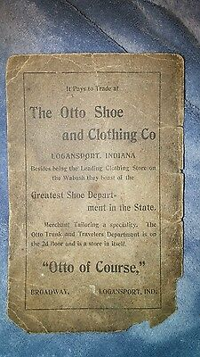 """""""The Otto Shoe and Clothing Store"""", Logansport, IN advertisement flier"""