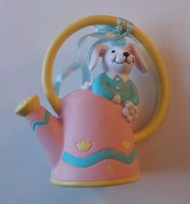 Avon The Gift Collection Busy Bunny Easter Ornament Bunny with Watering Can