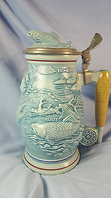 COLLECTIBLE BEER STEIN for FISHERMAN