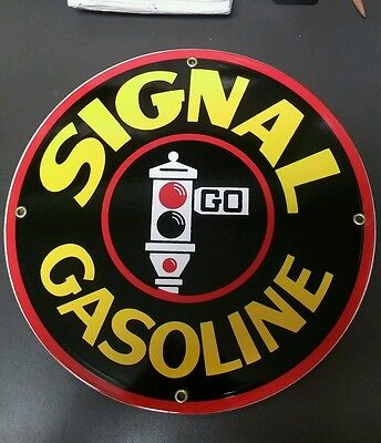 SIGNAL GASOLINE Gas Oil Porcelain advertising Sign