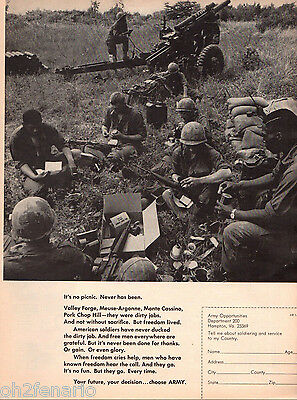 1969 U.S. Army American Soldiers Have Never Ducked The Dirty Job Print Ad