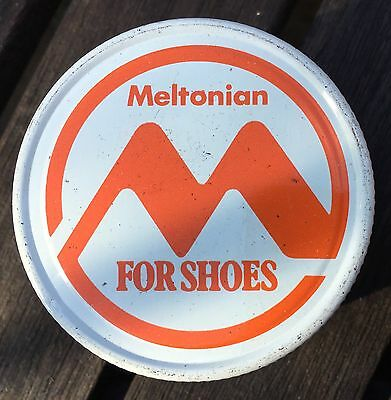 Vintage Meltonian For Shoes Navy Blue Shoe Boot Polish Cream Jar USA