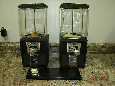 2- Gumball/candy Vending Machines W/double Plate